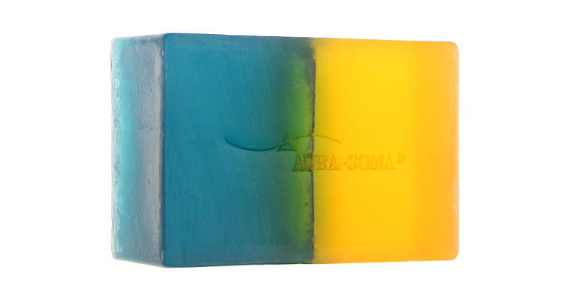 dual colour soap turquoise gold